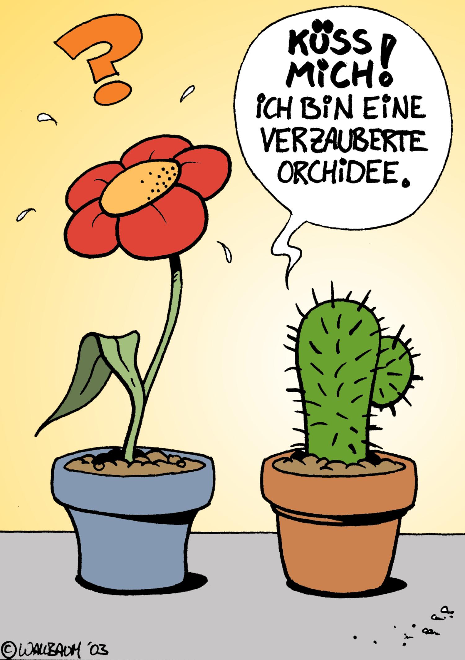 Cartoon Pflanzen