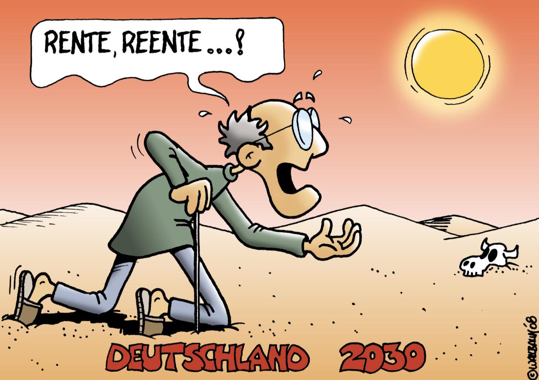 Cartoon Rente Deutschland 2030