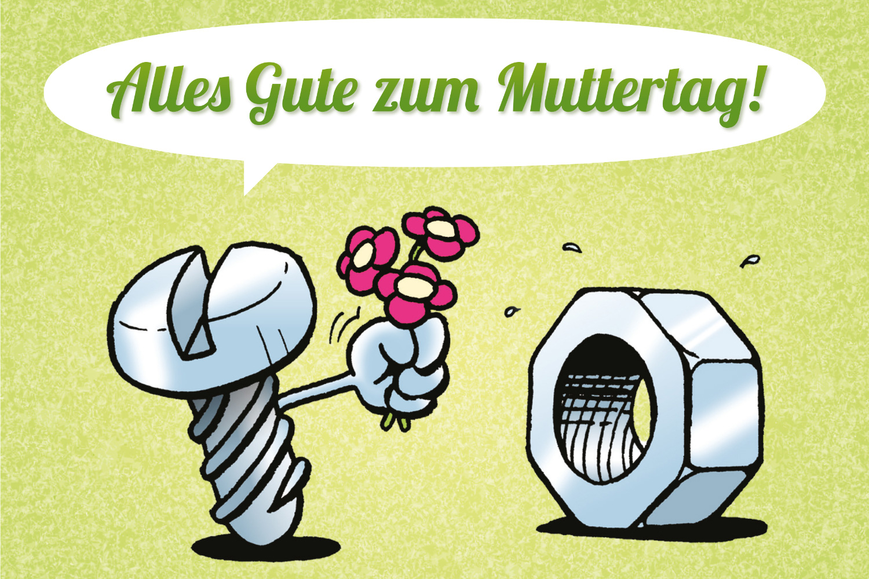 Cartoon Muttertag Glückwunsch