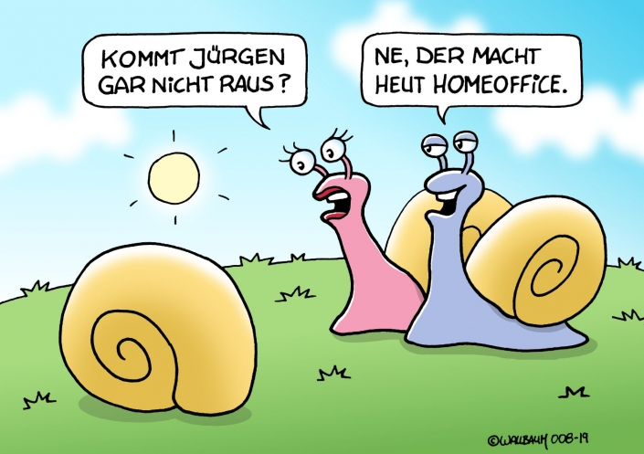 Cartoon zum Thema Homeoffice