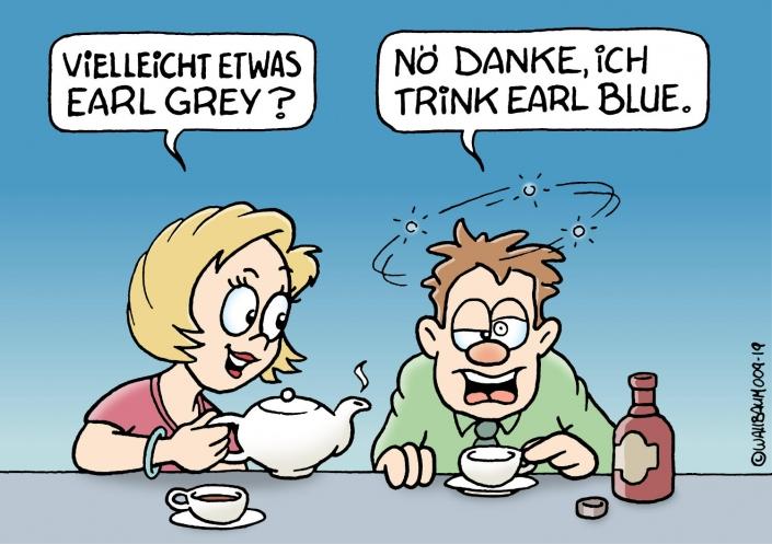 Cartoon über Teekultur