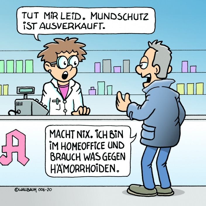 Cartoon zum Thema Coronavisrus