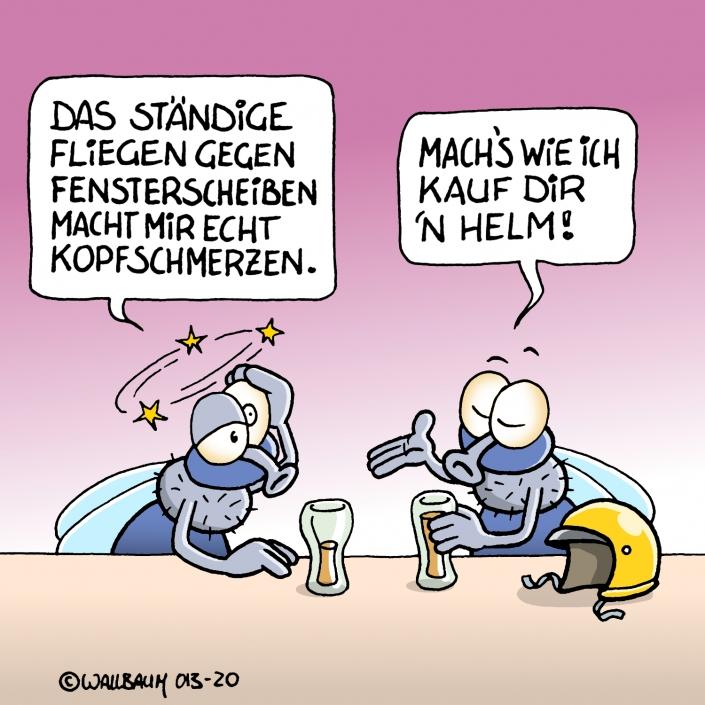 Cartoon-Metapher über mangelnde Lernfähigkeit